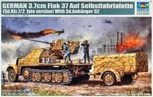 German 3.7cm Flak 37 auf Selbstfahrlafette in scale 1-35