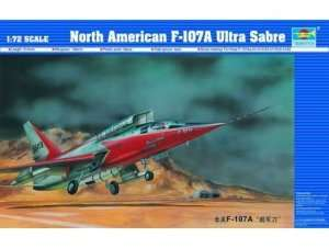 Model North American F-107A Ultra Sabre in scale 1:72
