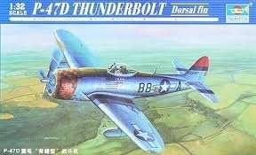 P-47D Thunderbolt Dorsal Fin in scale 1-32 Trumpeter 02264