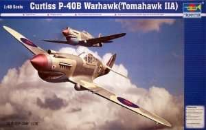 Model fighter P-40B Warhawk in scale 1:48