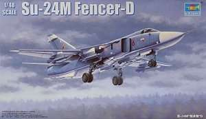 Model Soviet fighter Su-24M Fencer-D in scale 1:48