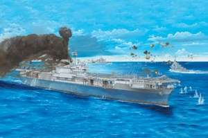 USS Yorktown CV-5 model Trumpeter in 1-200
