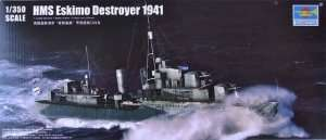 Model Destroyer HMS Eskimo in scale 1:350