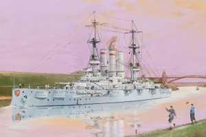 Schleswig-Holstein Battleship 1908 model Trumpeter 05355 in 1-350