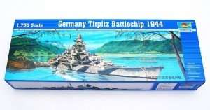 German Tirpitz 1944 Battleship in scale 1-700
