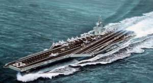 USS Dwight D.Eisenhower CVN-69 1978 in scale 1-700
