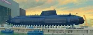 HMS Astute - model Trumpeter in scale 1:144