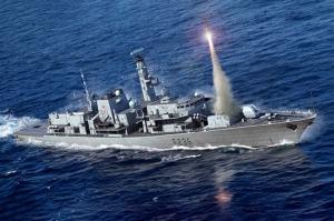 HMS Type 23 Frigate - Montrose F236 model Trumpeter in 1-700