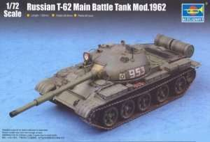 Russian T-62 Main Battle Tank Mod. 1962 in scale 1-72