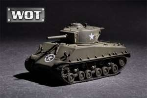 US M4A3E8 with 105mm M4 model Trumpeter 07168 scale 1-72