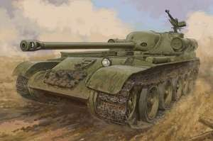 Soviet SU-102 Tank Destroyer model Trumpeter 09570