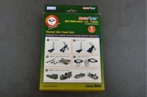 Model Kit Tool Set - Clamp for elastic band, Bottle Opener