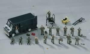 U.S. Pilot - Ground Crew Set in scale 1-72