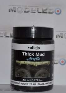Vallejo 26812 Thick Mud - Black Thick Mud