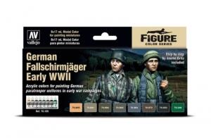 Model Color German Fallschirmjager Earlly WWII 8 x 17ml Vallejo 70185