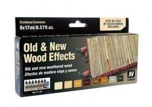Vallejo 71187 Zestaw 8 farb - Efekt starego i nowego drewna