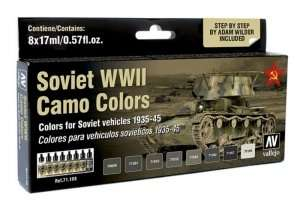 Model Air - Soviet WWII Camo Colors 8 x 17ml - Vallejo 71188