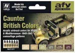 AFV Color Series - Caunter British Colors 6x17ml