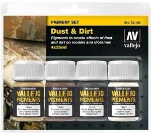 Pigment Set - Dust and Dirt - 4x35ml - Vallejo 73190