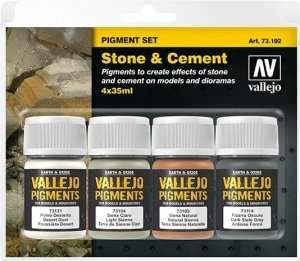Pigment Set - Stone and Cement - 4x35ml - Vallejo 73192