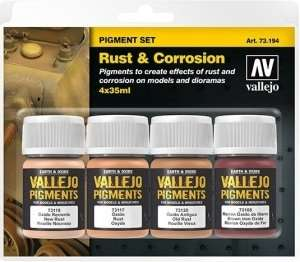 Pigment Set - Rust and Corrosion - 4x35ml - Vallejo 73194