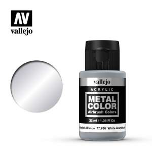 White Aluminium 32ml Acrylic paint Metal Color Vallejo 77706