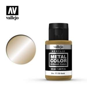 Gold 32ml Acrylic paint Metal Color Vallejo 77725