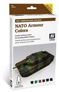 Vallejo 78413 Zestaw Model Air - NATO Armour Colors 6x8ml