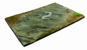 Wooden airfield surface 31x21cm - scale 1-35