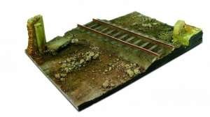 Country road cross with railway section 31x21cm - scale 1-35