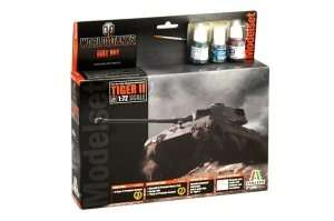 Italeri 74001 WOT Tiger II Model Set