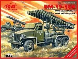 ICM 35512 WWII Soviet Multiple Launch Rocket System BM-13-16N in scale 1-35