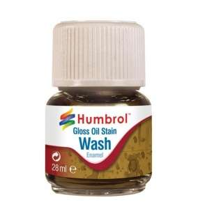 Humbrol AV0209 Enamel Wash Gloss Oil Stain 28ml