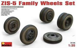 ZIS-5 Family Wheels Set in 1:35 MiniArt 35196