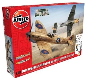 Supermarine Spitfire MkVb and Messerschmitt Bf109E Dogfight Doubles Gift Set Airfix 50160