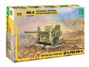 British 6-pdr Anti-tank gun model Zvezda in 1-35