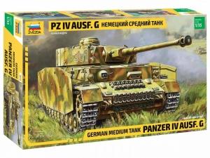 Medium tank Panzer IV Ausf.G model Zvezda 3674 in 1-35