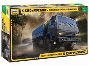 Russian Three Axle Truck K-5350 Mustang model in 1-35