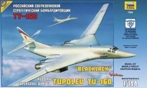 Zvezda 7002 Russian Supersonic Strategic Bomber Tu-160