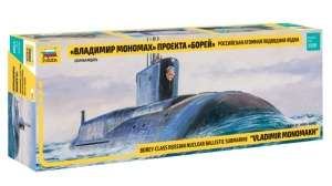Russian Nuclear Submarine Borey - class - in scale 1-350