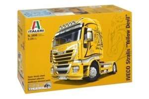 Truck IVECO Stralis Yellow Devil in scale 1-24 Italeri 3898