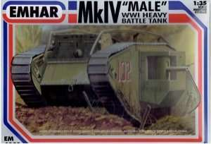 EM4001 Mk.IV Male WWI Tank in scale 1-35