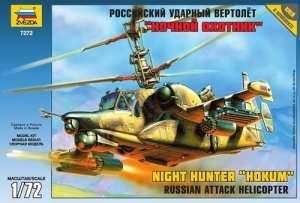 Helicopter Kamov Ka-50 SH Night Hunter in scale 1-72 Zvezda 7272