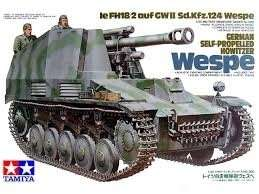 German Self-Propelled Howitzer Wespe in scale 1-35