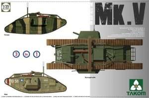 WWI Heavy Battle Tank Mk.V in scale 1-35