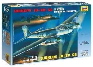 Heavy Night Fighter Junkers Ju-88G6 in scale 1-72 Zvezda 7269
