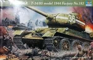 Tank model 1944 T34-85 in scale 1-16 Trumpeter 00902