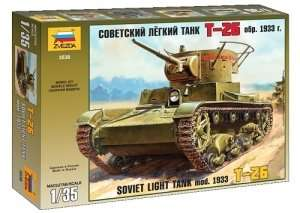 Soviet light tank T-26 mod.1933 in scale 1-35 Zvezda 3538