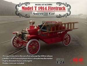 American Car Model T 1914 Firetruck in scale 1-24 ICM 24004