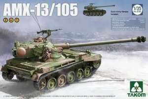 AMX-13/105 Tank 2in1 in scale 1-35 Takom 2062
